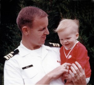 Rob with his Dad, 1969